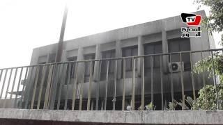 آثار حريق نادي السكة الحديد بمدينة نصر