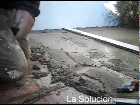 Recapado para instalar piso sobre otro piso youtube - Se puede colocar un piso ceramico sobre otro ...