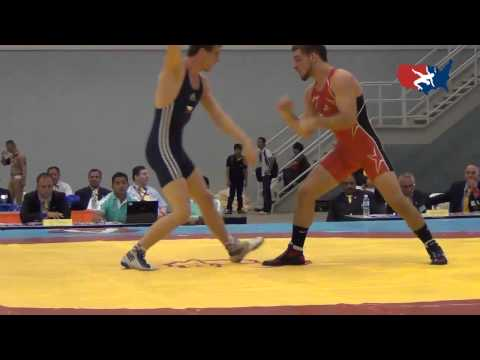 2012 Junior Worlds - GR 66kg - Nick Alvarez (USA) vs. Matous Morbitzer (CZE)