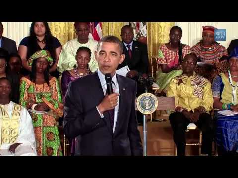 Young Leaders From Africa Question President Obama