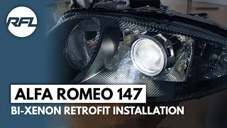 Alfa Romeo 147 Bi Xenon projector Mini H1 retrofit installation process