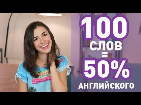 100 САМЫХ ИСПОЛЬЗУЕМЫХ СЛОВ В АНГЛИЙСКОМ ЯЗЫКЕ (для начинающих)