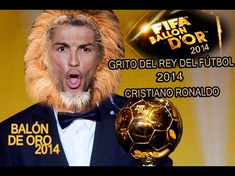 GRITO DE CRISTIANO RONALDO TRAS GANAR EL BALÓN DE ORO | Winner FIFA Ballon d'Or 2014