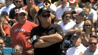 Joe West calls two balks on Mark Buehrle and then ejects him, a breakdown
