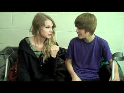 YouTube - Justin Bieber & Taylor Swift sweet hug