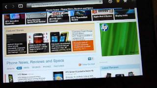 BlackBerry PlayBook Web Browsing Demonstration