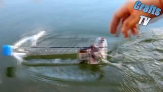 Hướng dẫn làm thuyền đồ chơi có động cơ từ vỏ chai nước cực bá đạo
