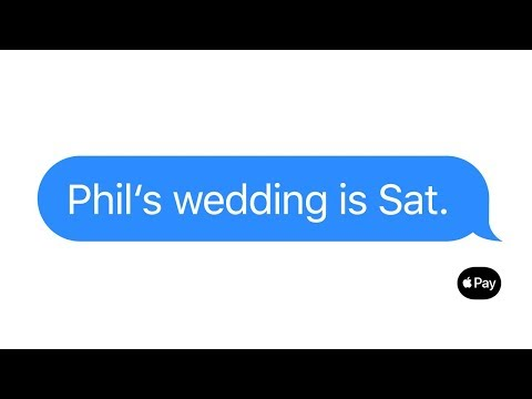 Apple Pay — Just text them the money — Wedding