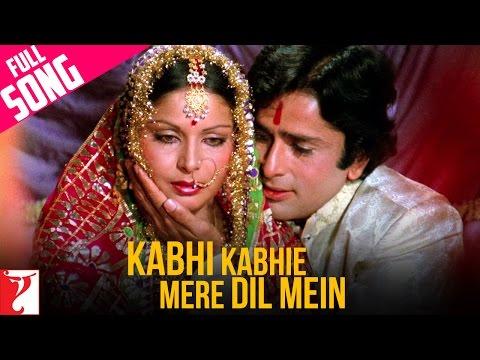 Kabhi Kabhie Mere Dil Mein - (Female) - Full Song - Kabhi Kabhie