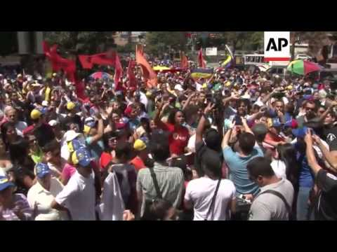 Opposition protest calling for full details about Chavez' health, rival demo