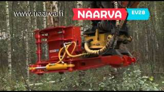 Naarva EV28 felling head for excavators - EV28-energiakoura kaivinkoneeseen