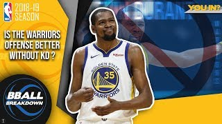 Is The Warriors Offense Better Without Kevin Durant?