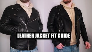 How Should A Leather Jacket Fit You ? - Men's Leather Jacket Fit Guide