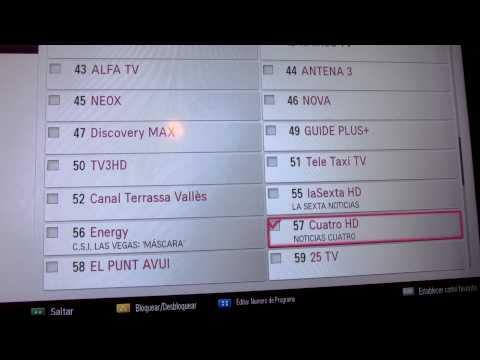 Ordenar canales en televisor LG.