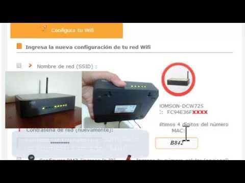 Cambiar clave WIFI módem UNE