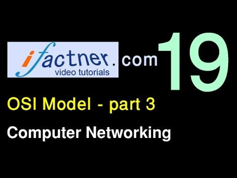OSI model explained p3, 18b, Computer Networking tutorial for beginners