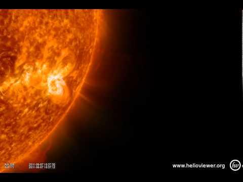 massive solar storm 2011-06 - vision closed - 1