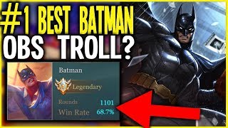 ROV / AOV: #1BEST BATMAN(EU)TROLLING RANK1 AND DARKBREAKER? | Arena of Valor Batman Builds