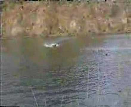 RC GAS POWER BOAT 2.0m MHZ SHOWTIME IN GREECE 40cc BLATA