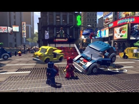 LEGO Marvel Super Heroes 100% Guide #2 - Times Square Off (All 10 Minikits. Stan Lee in Peril)