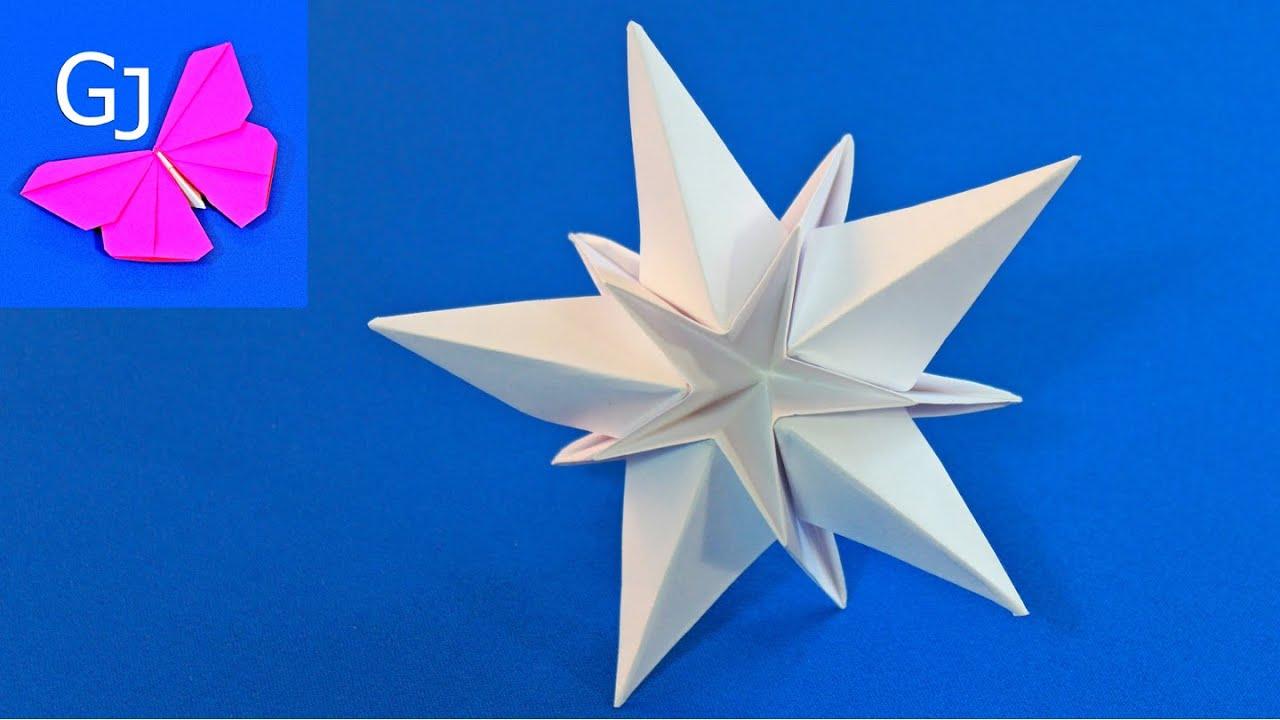 Как сделать звездочку из бумаги своими руками фото поэтапно