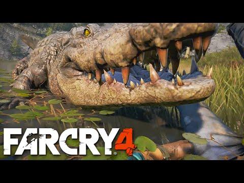 FAR CRY 4 - Lutando com crocodilo, ataque de piranhas, voando de asa delta e mais!!!