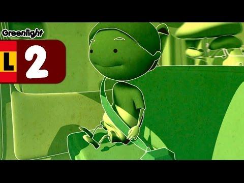 El cinturón de Seguridad, seguridad vial para niños - Luz verde