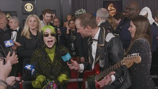 Billie Eilish Finds Out About Her Grammy Win with Andy Zenor on the Red Carpet