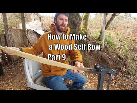How to Make a Wood Self Bow. Part 9 (Horn Tip Overlays. Sanding and More Shooting)