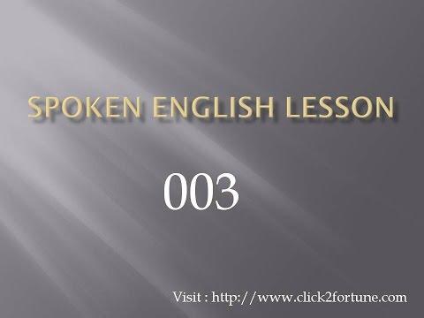 Spoken English Lesson 003 video