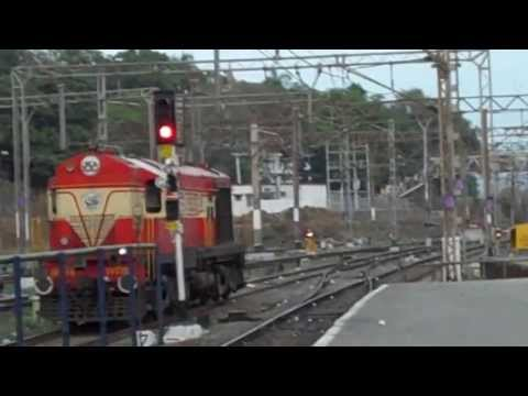 INDIAN RAILWAYS Mangala Express locomotive change sequence from Diesel to Electric
