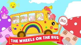 The Wheels On The Bus Super Simple Songs | Nursery Rhymes Song [Music Video 4K]