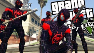 SPIDER-MAN: INTO THE SPIDER-VERSE DEALING WITH PROBLEMS MOD (GTA 5 PC Mods Gameplay)