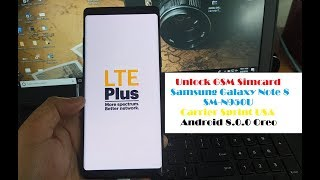 Unlock GSM Simcard Samsung Note 8 N950U Sprint Boost Mobile Android 8.0.0 Last Version