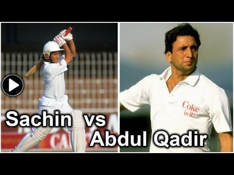 Sachin Tendulkar vs Abdul Qadir: The 16-year old smashes four...