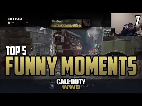 Censor LIES To Temp!? - COD WWII: TOP 5 PRO FUNNY MOMENTS #7 - Call of Duty World War 2