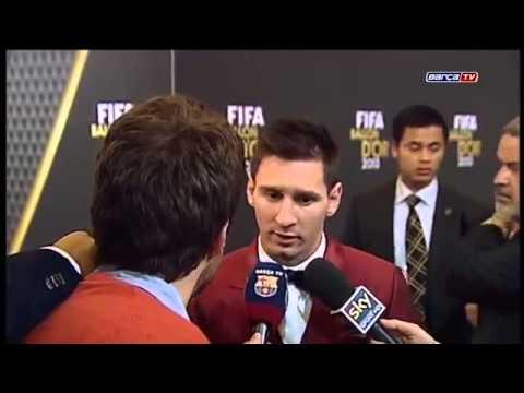 Lionel Messi Parabeniza a Cristiano Ronaldo - FIFA Ballon d'Or