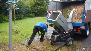 Jansen GTS-1500E small wood chipper. TFG-Tree Service