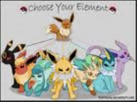 Pok mon evoli et ces volution youtube - Pokemon famille d evoli ...