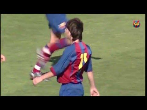 Inédito: salió a la luz un video de un partidazo de Messi en el Barça B