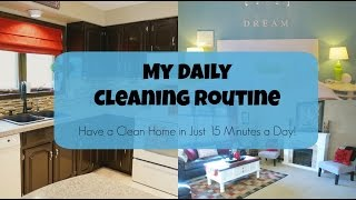 My Daily Cleaning Routine