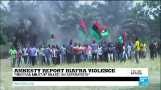 Amnesty international report about how Nigerian army killed Biafra peaceful protesters in ABA