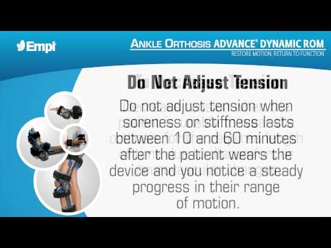 Empi Advance Dynamic ROM - Ankle Orthosis Dynamic Mode