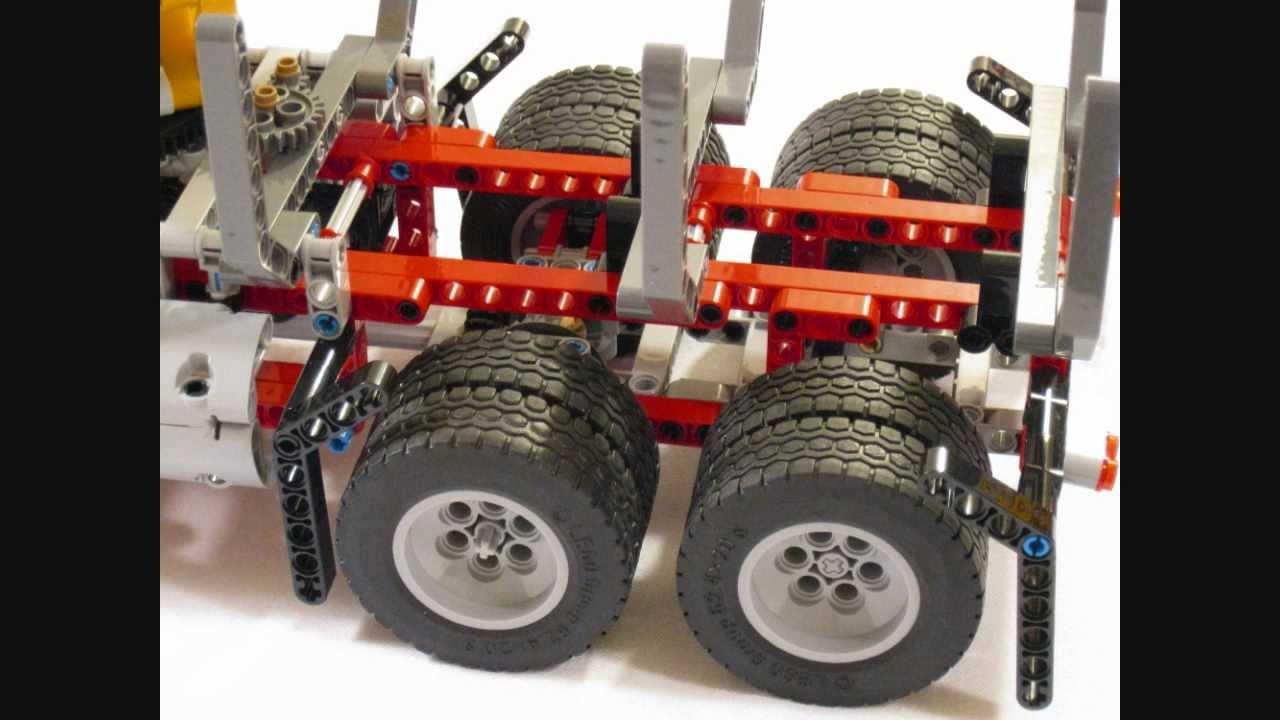 Hd Lego Technic 9397 Logging Truck Dual Rear Wheels