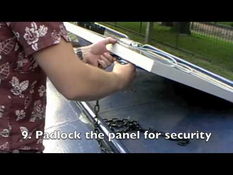 How to fit Photonic Universe solar panels to canal boats: info@photonicuniverse.com
