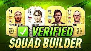 FIFA 19 VERIFIED SQUAD BUILDER - BEST FORMATIONS, TACTICS, & INSTRUCTIONS