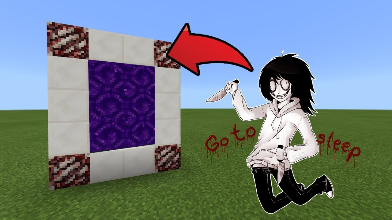 How To Make a Portal to the Jeff The Killer Dimension in MCPE (Minecraft PE)