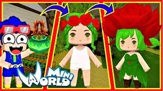 Cuộc sống của bé hoa hồng trong mini world | Thử thách Phong Cận làm trông trẻ và cái kết bất ngờ