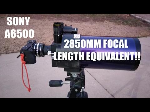 Sony A6500 TELESCOPE MOUNT!