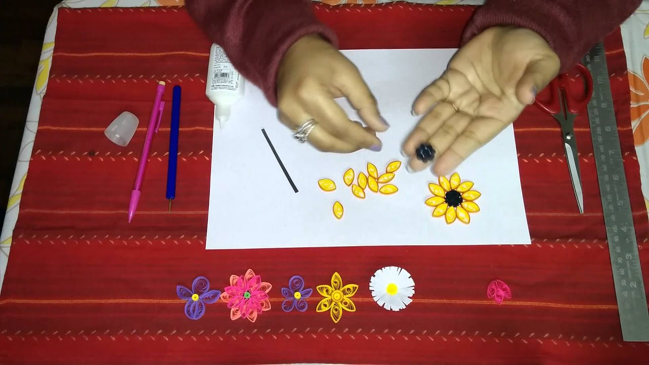 Make Quilling Sunflower How to Make Sunflower Quilling